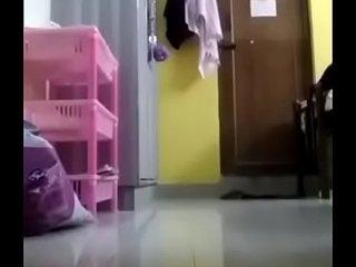 Horny Hostel girl showing boobs and self masturbating