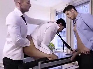 threesome handsome guys