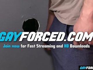 GayForced.com - Interracial Glory Hole Black Gay Cock