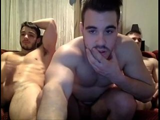 Three guys jerking off on the couch 247cool.blogspot.com