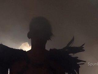 Dark Sexy Halloween Party JayCee Fucks Twink Romeo in a Dungeon Sling
