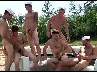Awesome gay gangbang