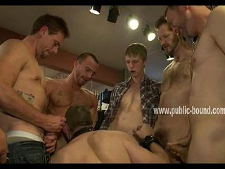 Gay cocks enjoy fucking sex slave