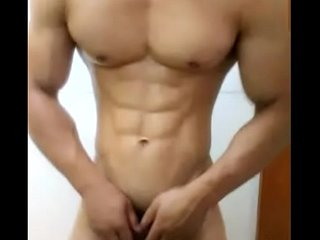 china chinese gay muscle guy young man amateur selfie solo wank jerking.off 中国 筋肉 肌肉 年轻 同性恋 同志 手淫 自拍