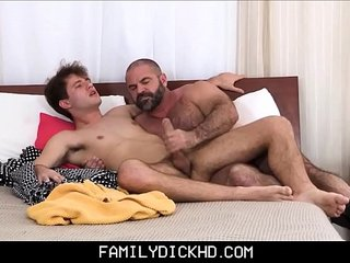 Bear Step Dad Catches His Son Masturbating Then Teaches
