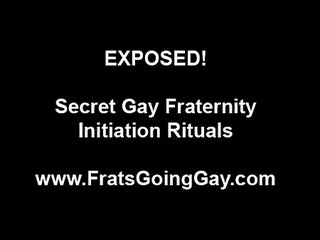 Gay threesome for straight amateur in fraternity